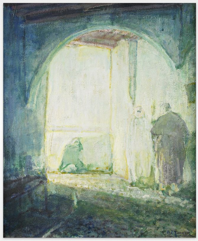 'Moroccan Scene' by Henry Ossawa Tanner, born June 21, 1859