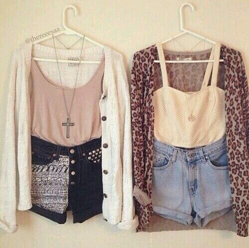 High waisted shorts and crop tops