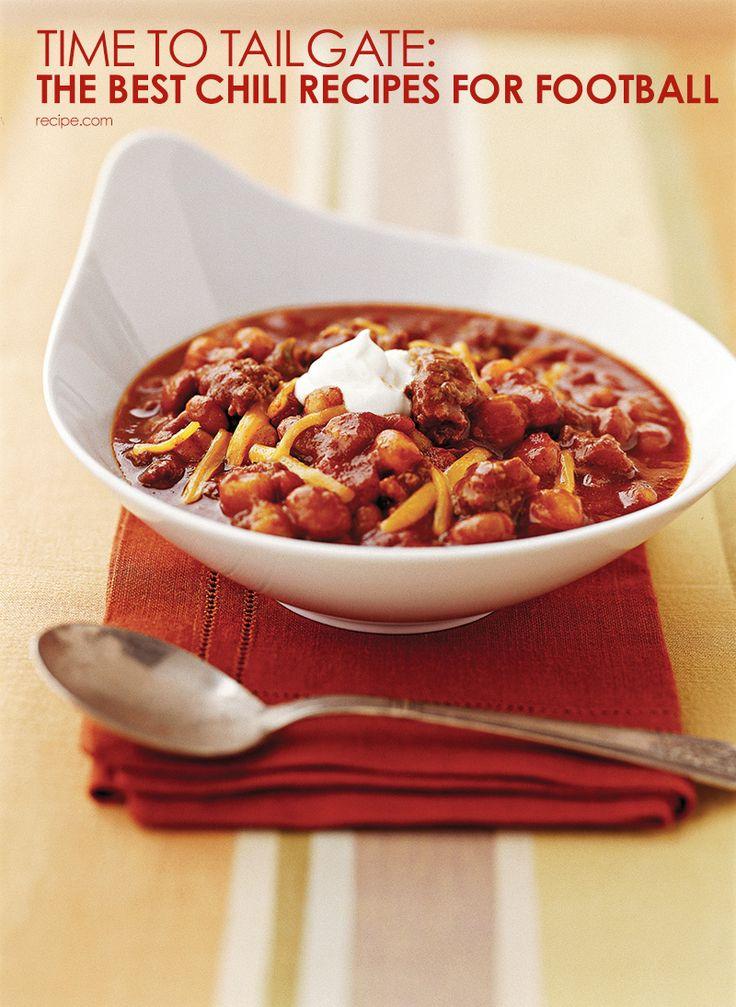 ... for best tailgating chili recipes! #tailgating #chili #comfortfood