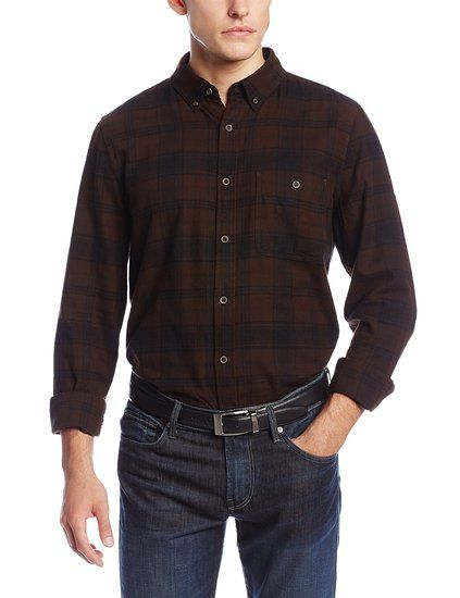 7 for all mankind men 39 s flannel oxford button up shirt for Button up flannel shirts