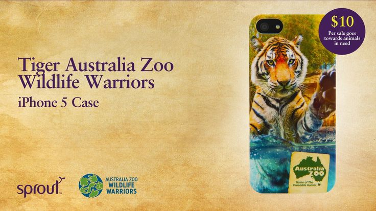 Australia Zoo Wildlife Warriors Tiger iPhone 5 Case by Sprout. #sprout #freedomtogrow #phonecases #phonecase #mobile #technology #cellphone #tablet #iphone #ipad #samsung #htc