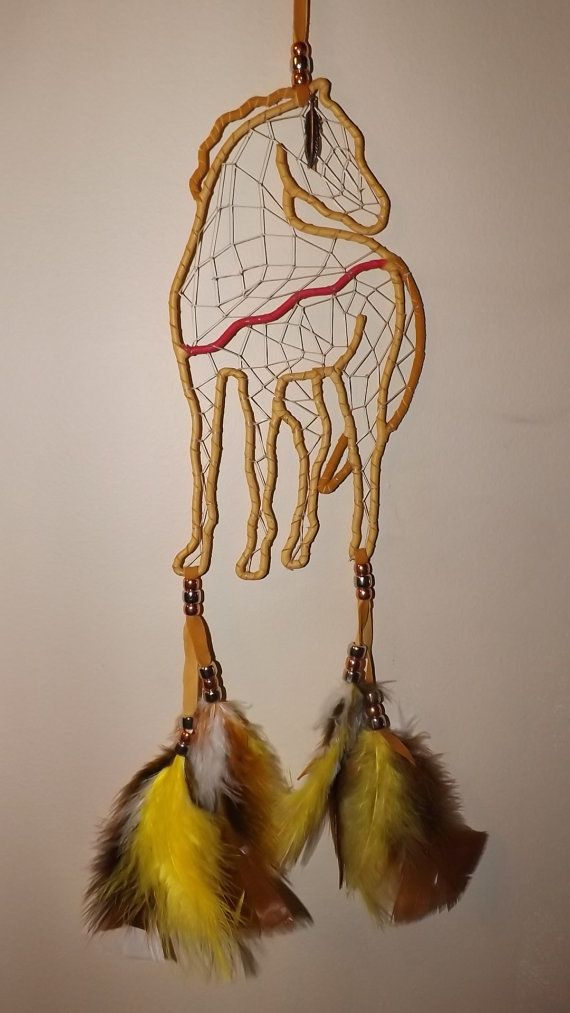 indian horse dream catcher free shipping by LandonsDreamCatchers, $80.00