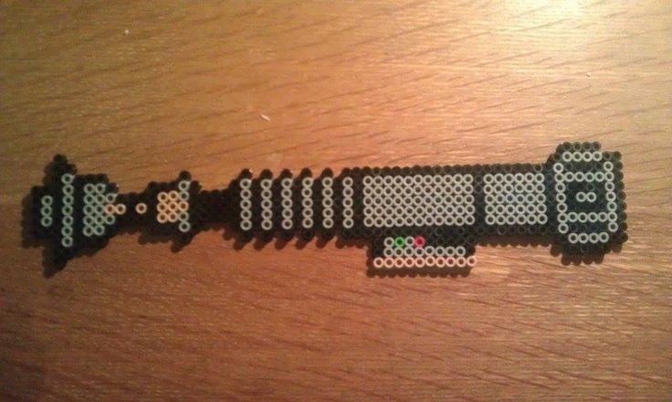 Luke's Lightsaber - Star Wars perler beads by Murchman-Creations