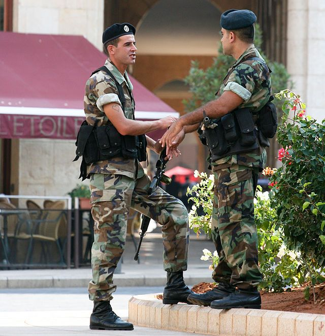 Soldiers of the Lebanese army, 2009 ◆Lebanon - Wikipedia http://en.wikipedia.org/wiki/Lebanon #Lebanon