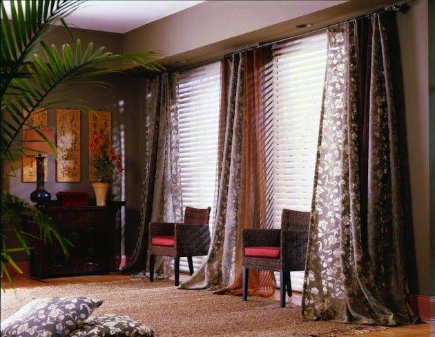 choosing window treatments for large windows design
