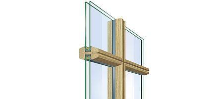 Glasdelande spröjs - Trä