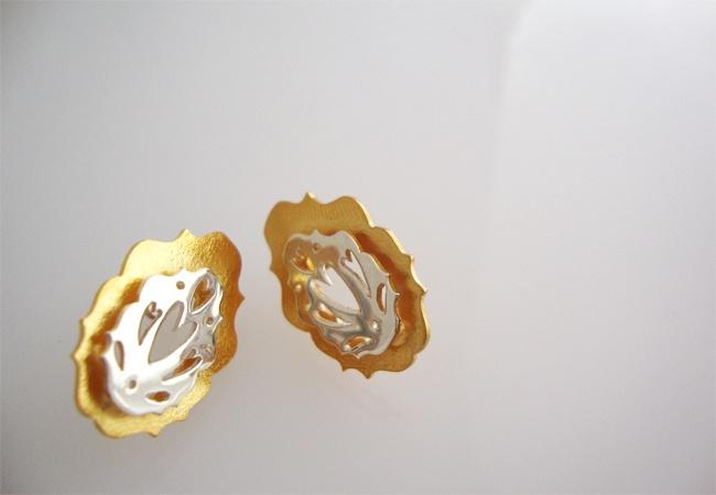 Silver Earring - Tika Jewellery  Princess Collection - 2012  Laura Metke