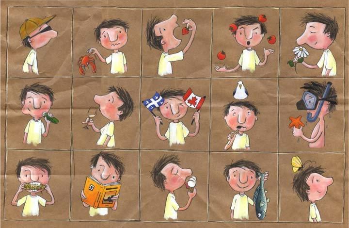 Estar, ser, tener... (Ilustración de Geneviève Després. Las cuatro estaciones -verano-).