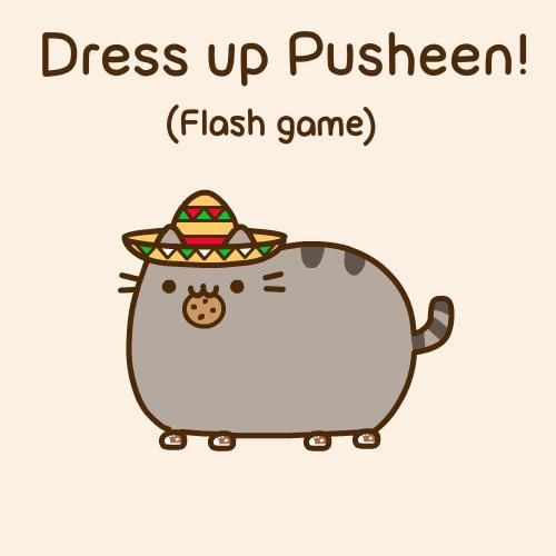 Pusheen The Cat Dress Up Flash Game