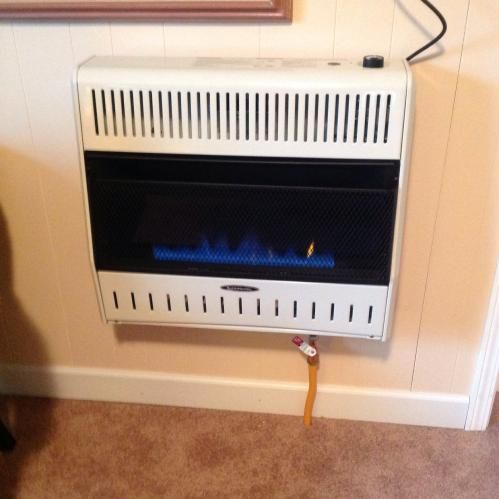 30 000 Btu Blue Flame Dual Fuel Wall Heater With Blower