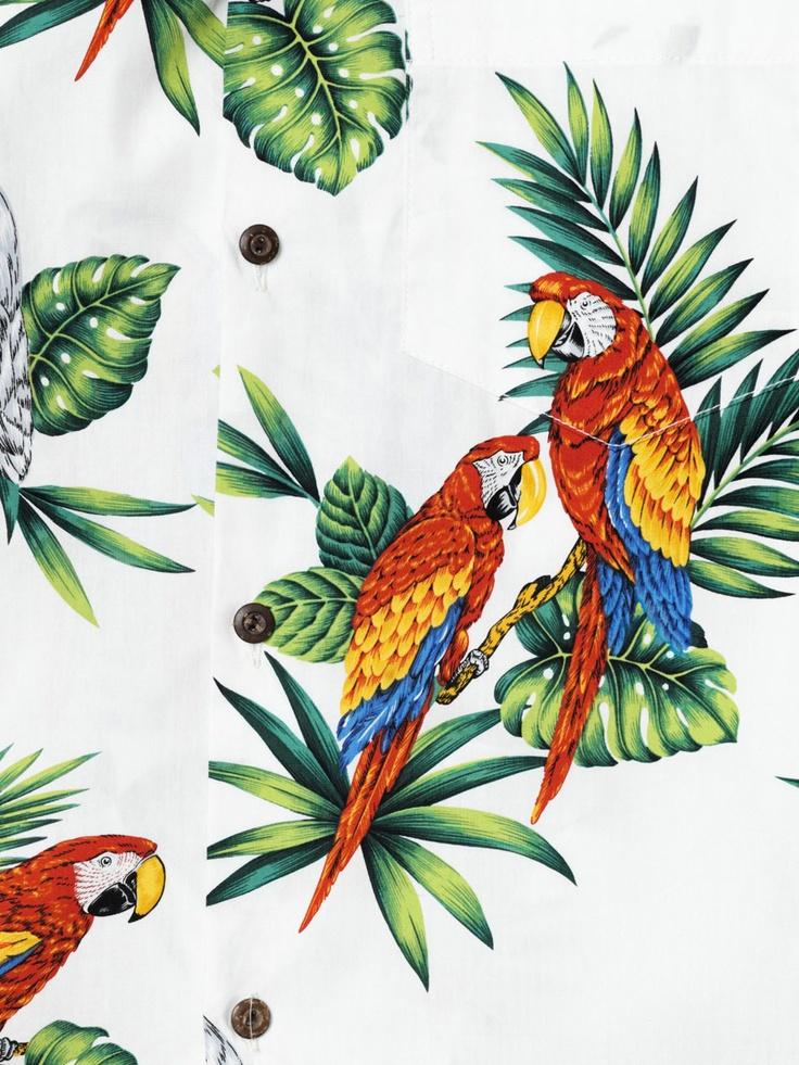 Stella Jean Hawaiian parrot-print shirt