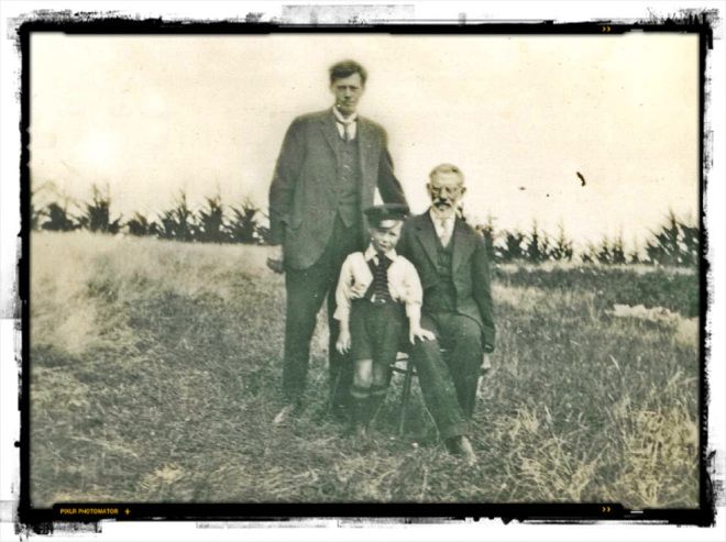 Arthur, Thomas and John Dove. Father, son and grandfather. Photo: Dove-Gray families archive.