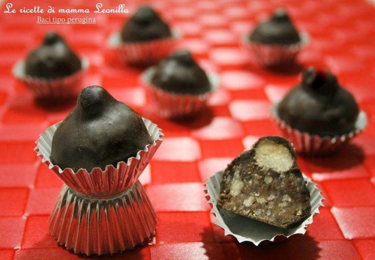 BACI TIPO PERUGINA  -ricetta dolce facile senza forno, anche Bimby