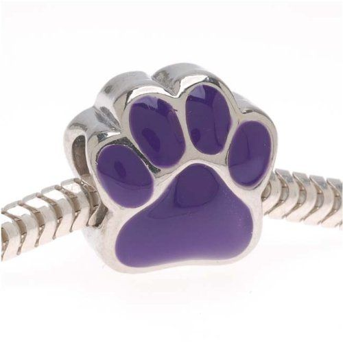 * Penny Deals * - Buckets of Beads Paw Charm Bead, Purple -- Check out this great product.