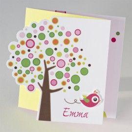 3-luik bollenboom met roze vogel (501.208)