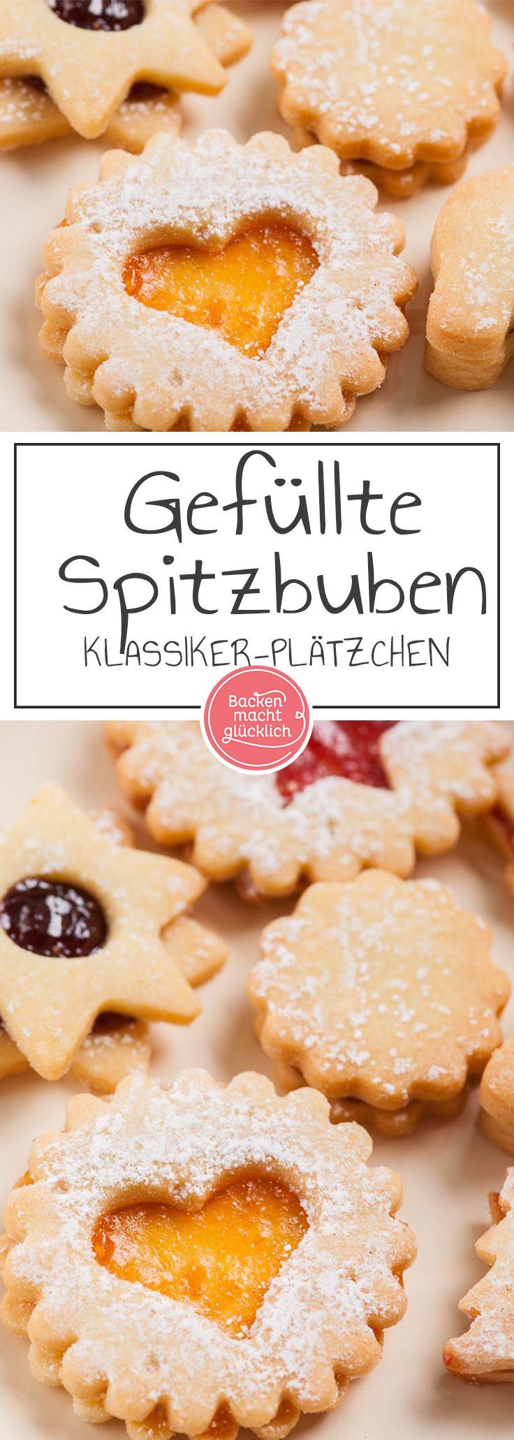 Die besten Spitzbuben der Welt: Wunderbares Klassiker-Rezept meiner Uroma Margarethe. Die gefüllten Weihnachtsplätzchen sind auch unter den Namen Terrassenplätzchen bekannt.