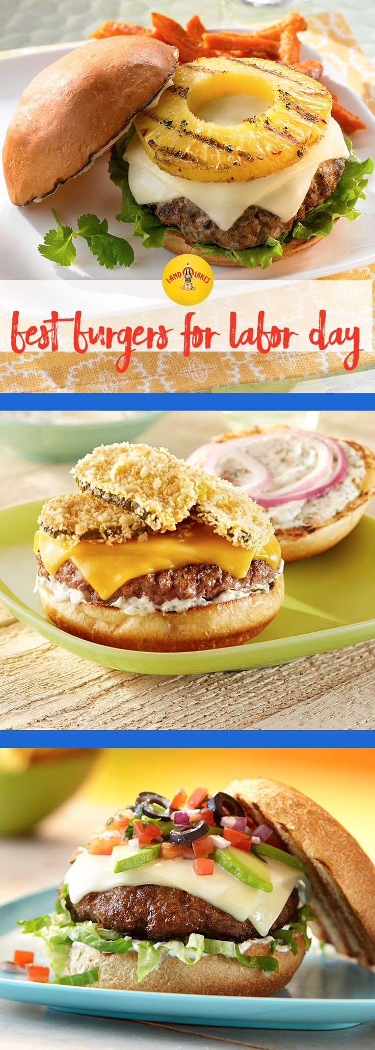 The patty itself is just the beginning to the perfect Labor Day burger. Start with chicken, pork, veggies, a portabella mushroom or good old-fashioned beef. Then heap on the flavors from there, with cheese, onions, salsa and even fruit.