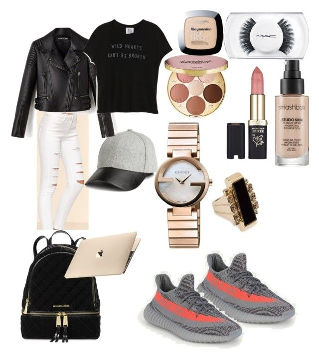 """Date"" by madisonkiss on Polyvore featuring Gucci, Lanvin, Smashbox, tarte, L'Oréal Paris, Michael Kors, MAC Cosmetics and Zoe Karssen"