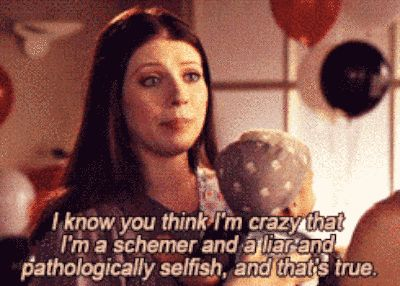 "She was wonderfully self-aware. | Community Post: 10 Reasons Why Georgina Sparks Is The Best Character On ""Gossip Girl"""
