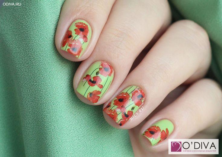 "Milv, слайдер-дизайн ""Цветы N164"" http://odiva.ru/~29iJU Milv, лак для ногтей…"