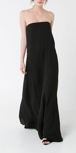 Minimal + Classic: strapless floor length in black by Mango