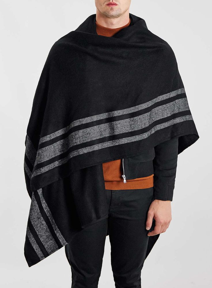 Black Stripe Border Cape