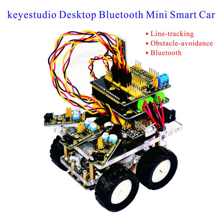 Cheap Keyestudio Escritorio Inalámbrico Bluetooth Mini Robot Coche Inteligente BRICOLAJE coche Kit DIY para Arduino Kit, Compro Calidad Electrónica de Maquinaria de Producción directamente de los surtidores de China: Keyestudio Escritorio Inalámbrico Bluetooth Mini Robot Coche Inteligente BRICOLAJE coche Kit DIY para Arduino Kit