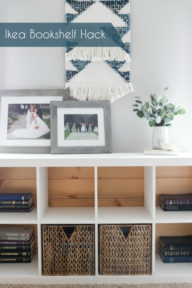 Ikea bookshelf hack. Adding milk paint and a pallet back to give a bookshelf a new look! thedempsterlogbook.com