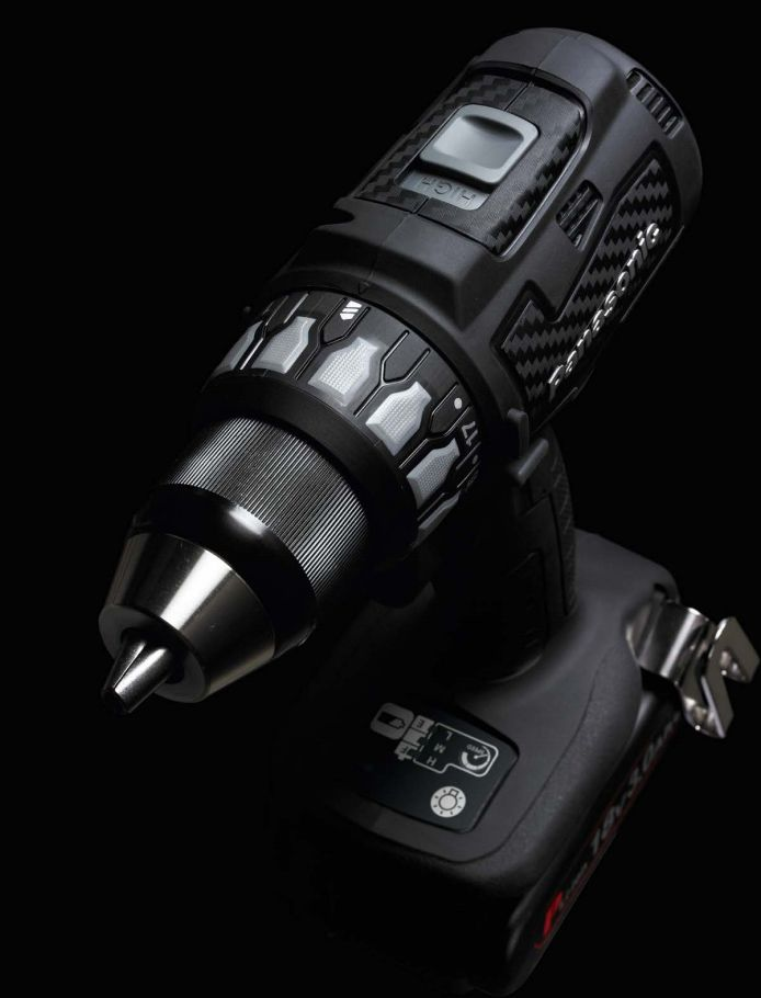 Panasonic power tools - cordless drill carbon black edition