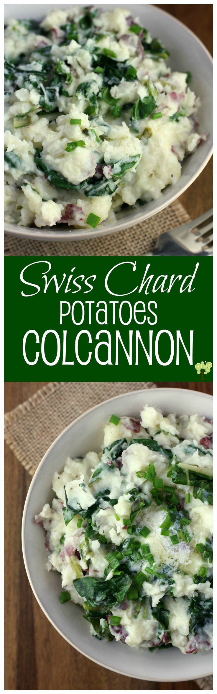 Swiss Chard Potatoes Colcannon from EricasRecipes.com