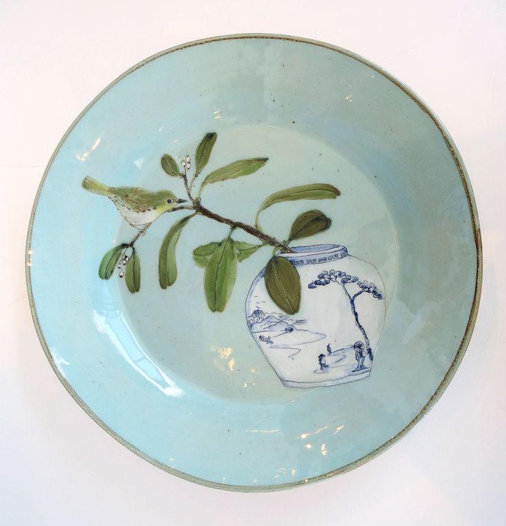blue -plate - ceramic - Lisa Ringwood