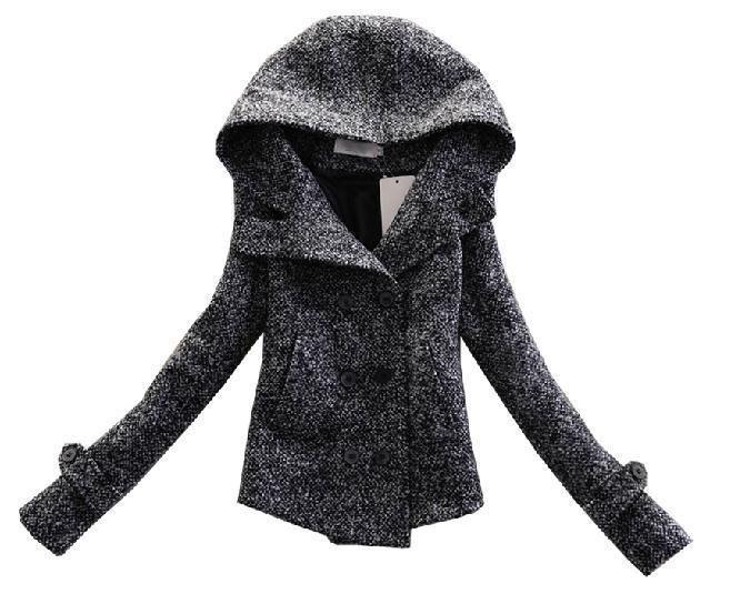 cute cap show thin short coat