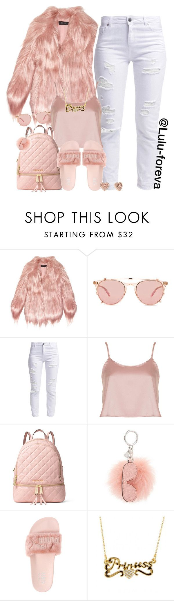 """""""Untitled #1550"""" by lulu-foreva ❤ liked on Polyvore featuring Gucci, Garrett Leight, Miss Selfridge, Oh My Love, MICHAEL Michael Kors, Puma and Michael Kors"""