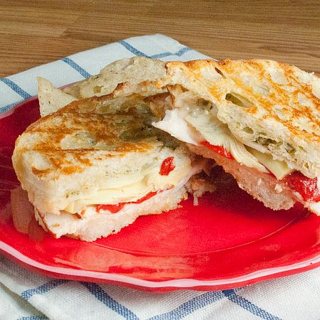 Antipasto Stromboli Panini Recipe — Dishmaps