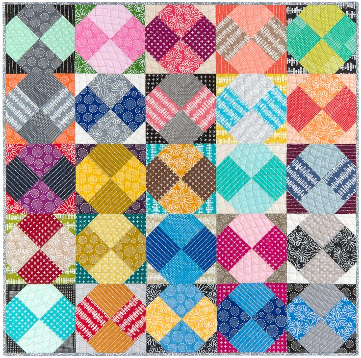 Twister Quilt Pattern Directions : Anita s Bow Twist Block Quilt with Janice E Petre signature Quilting #BlueberryParkFabric # ...