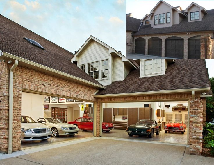 11 best garage images on pinterest exterior colors car for Homes with 4 car garages