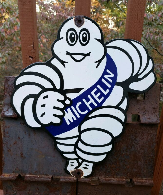 VINTAGE OLD MICHELIN MAN TIRES PORCELAIN ENAMEL SIGN GAS FUEL STATION  REPAIRS in 2020   Michelin man, Michelin, Vintage porcelainPinterest