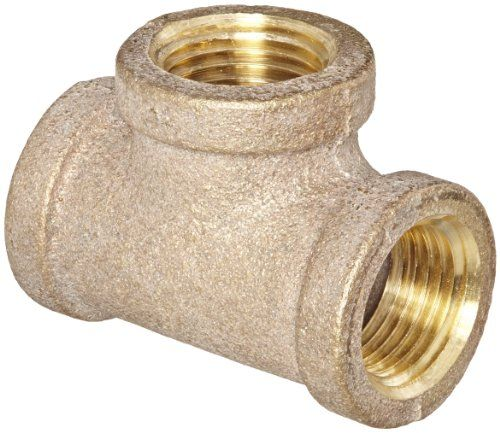 "Anderson Metals 38101 Red Brass Pipe Fitting, Tee, 1/2"" x 1/2"" x 1/2"" Female Pipe #carscampus"