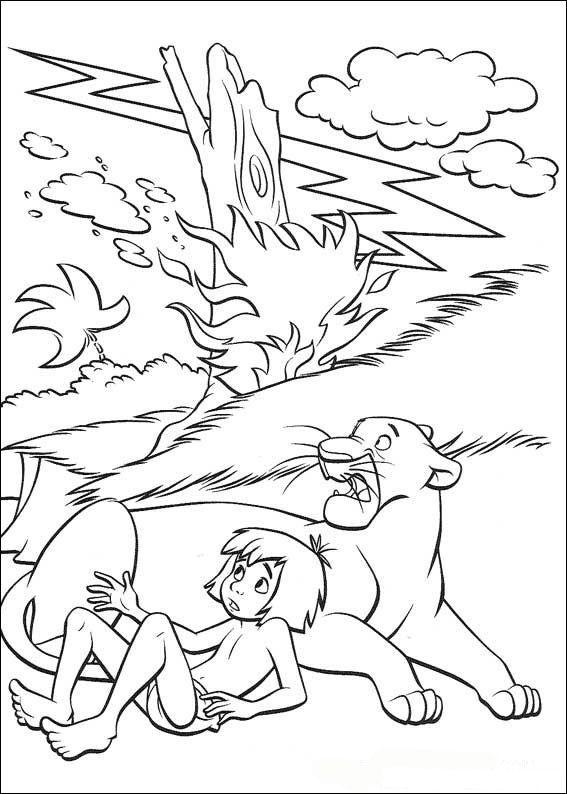 kleurplaat jungle boek jungle book - Disney Jungle Book Coloring Pages