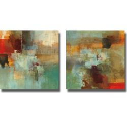 @Overstock - Artist: Randy HibberdTitle: Big City I and IIProduct Type: 2-piece Canvas Art Sethttp://www.overstock.com/Home-Garden/Randy-Hibberd-Big-City-I-and-II-2-piece-Canvas-Art-Set/5683329/product.html?CID=214117 $174.99