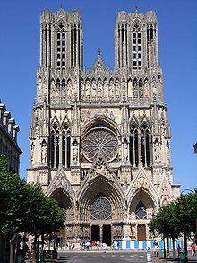 Готическая архитектура .  Реймский  собор.  Франция.