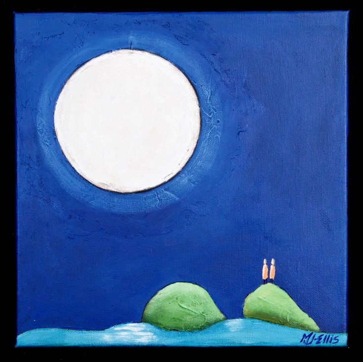Buy Conversation with the Moon XVII, acrylic on canvas, Acrylic painting by Mariann Johansen-Ellis on Artfinder. Discover thousands of other original paintings, prints, sculptures and photography from independent artists.
