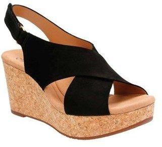 Clarks Women's Annadel Eirwyn Slingback Wedge Sandal.