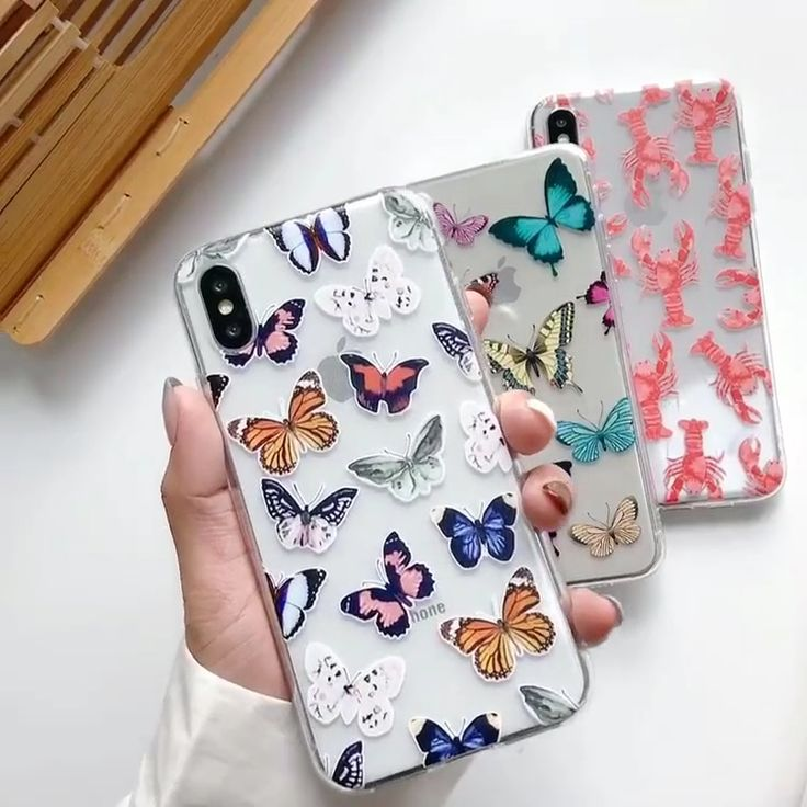 Butterfly lobster transparent iphone case video iphone