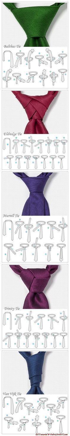 Guia prático de nós em gravata. Escolha aquela que tem mais a ver com o seu estilo.
