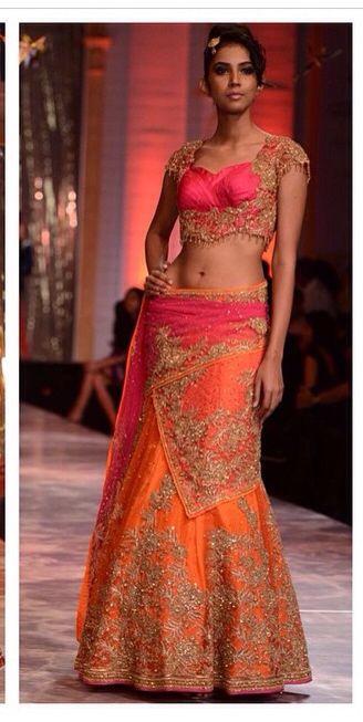 ~ OMG #Gorgeous pink, orange, gold #Desi Bridal #Lehenga ~