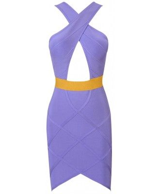 Shop Vixan Lilac Bandage Dress at an exciting price AUD 129 available in extra small, small, medium, large