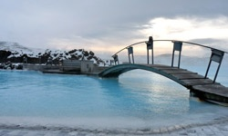 path to Iceland's Blue Lagoon