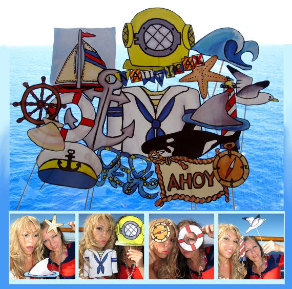 nautical photo booth props  perfect for sailing by thepartyevent