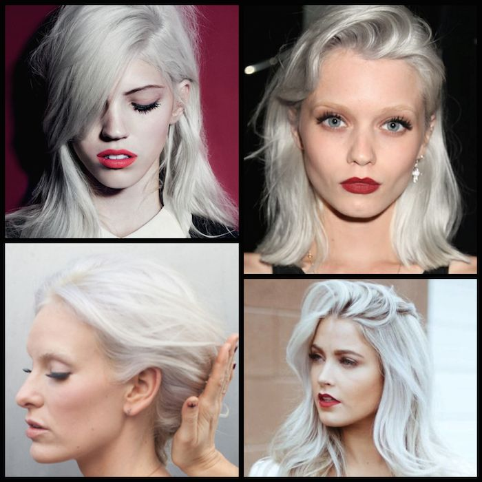 Platinum hair is a huge trend this season, one that keeps getting lighter and brighter. This bright white blonde with a subtle silver cast is often coveted and rarely achieved. Since hair yellows a...